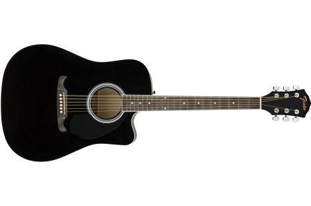Fender FA-125CE Dreadnought - Walnut Fingerboard - Black