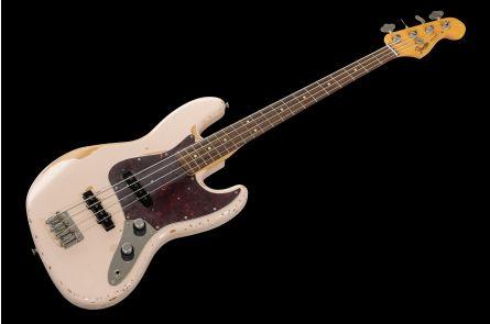 Fender Flea Jazz Bass RW - Roadworn Shell Pink