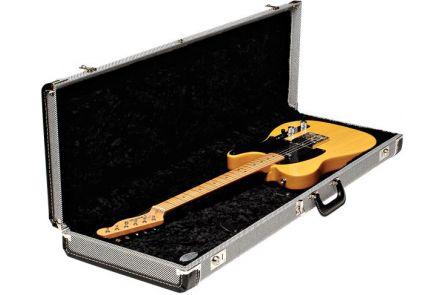 Fender G&G Deluxe Strat/Tele Hardshell Case - Black Tweed with Black Interior