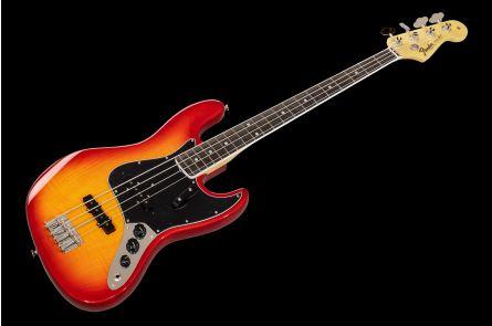Fender Rarities Flame Ash Top Jazz Bass EB - Plasma Red Burst