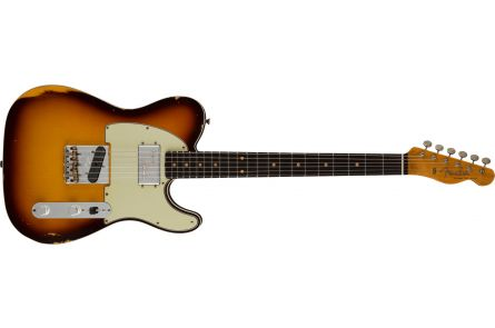 Fender Limited Edition Cunife Tele Custom Relic MN Faded Aged Chocolate 3-Color Sunburst