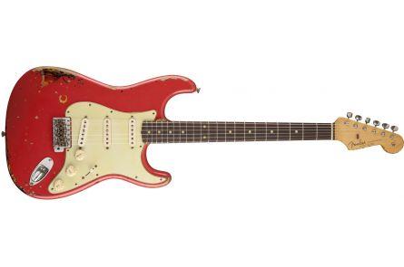 Fender Michael Landau Signature 1963 Relic Stratocaster - Round-Laminated RW Fiesta Red over 3-Color Sunburst