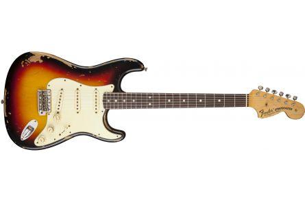 Fender Michael Landau Signature 1968 Relic Stratocaster - Round-Laminated RW Bleached 3-Color Sunburst