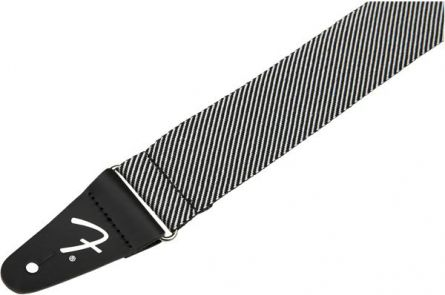 Fender Modern Tweed Strap - White/Black 2