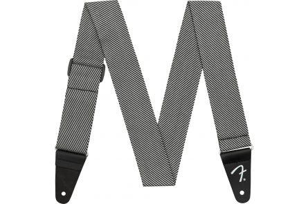 "Fender Modern Tweed Strap - White/Black 2"""