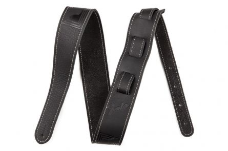 Fender Monogram Leather Strap - Black