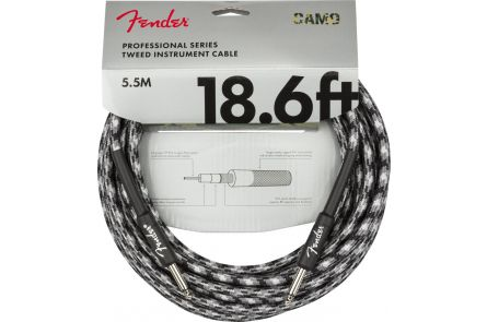 Fender Professional Series Instrument Cable - Straight/Straight - 18.6' - Winter Camo