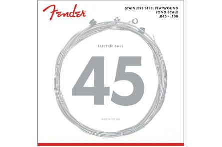 Fender Stainless 9050's Bass Strings - Stainless Steel Flatwound - 9050L .045-.100 Gauges - (4)