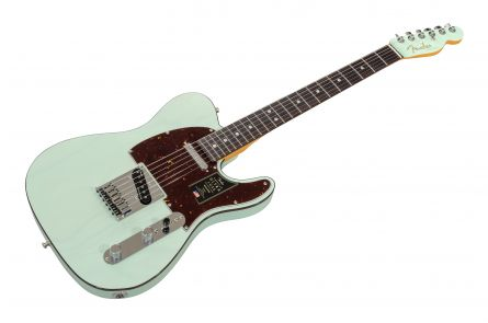 Fender American Ultra Luxe Telecaster RW - Transparent Surf Green