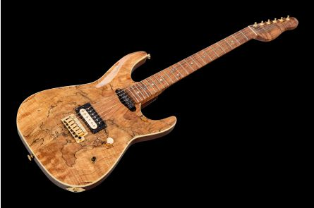 GMW ATS Archtop HS Trem - Spalted Maple - Koa Neck PV