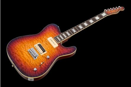 GMW Tele HP90 Trem - Purple Sunburst 5A QM MH