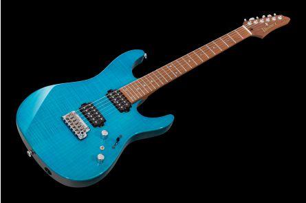 Ibanez MM1 TAB Prestige Martin Miller Signature - Transparent Aqua Blue