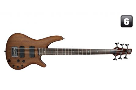 Ibanez SRC6 WNF  Bass Workshop - Walnut Flat