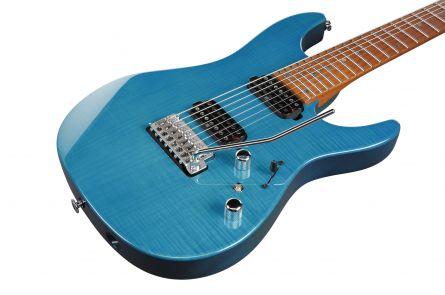 Ibanez MM7 TAB - Martin Miller Signature - Transparent Aqua Blue