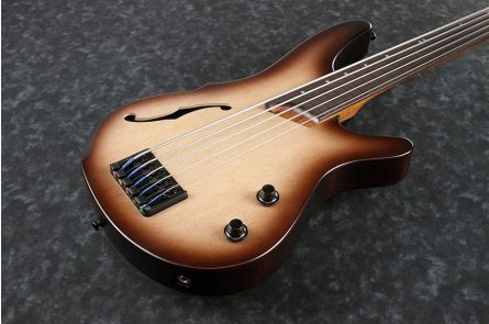 Ibanez SRH505F NNF Bass Workshop - Natural Browned Burst Flat