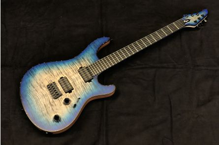 Mayones Regius 6 Custom - Trans Jeans Black 3-Tone Blue Burst Matt
