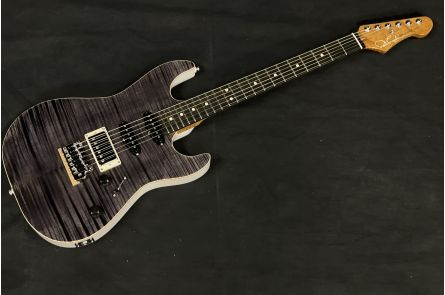 """Patrick James Eggle """"96"""" Drop Top HSS - Black/Grey Double Stained - Trans Blonde Back"""