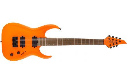 Jackson Pro Series Signature Misha Mansoor Juggernaut HT7 - Caramelized Maple Fingerboard - Neon Orange