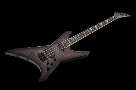 Jackson USA Custom Shop Warrior 4 Bass TBK - Transparent Black
