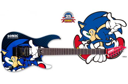 ESP Ltd SN-25TH Sonic the Hedgehog Guitar-II Limited Edition