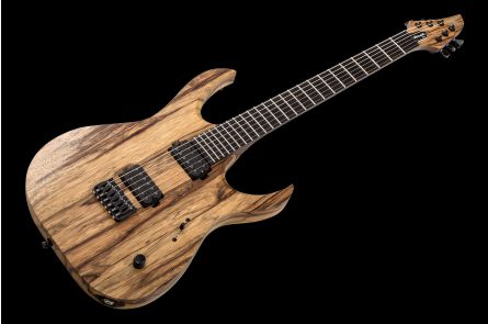 Mayones Duvell 6 BL Black Limba - Trans Natural Satin DF1909925