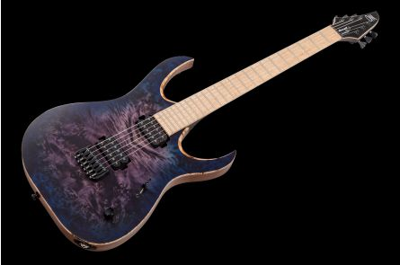 Mayones Duvell 6 Elite Custom Shop - Trans Purple Blue Burst Satin