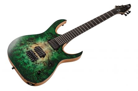 Mayones Duvell 6 Elite Eye Poplar - Trans Forest Green Burst Satin