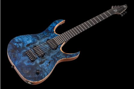 Mayones Duvell 6 Elite - Trans Dirty Blue Gloss
