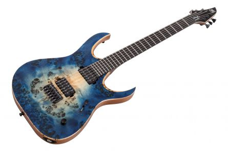 Mayones Duvell 6 Elite - Trans Natural Blue Burst Out Satin