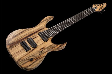 Mayones Duvell 7 BL Black Limba - Trans Natural Satin