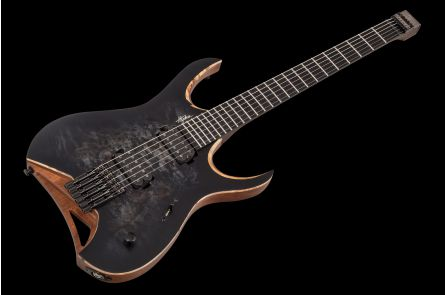Mayones Hydra 6 Elite Headless Custom - Trans Black Burst Satin