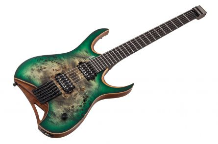 Mayones Hydra 6 Elite Headless Custom - Trans Jeans Forest Green Burst Satin