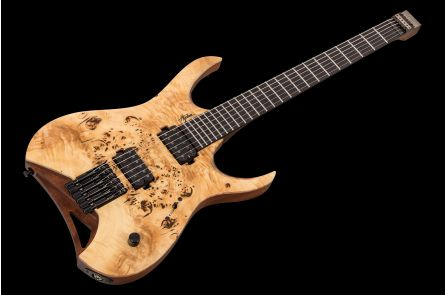 Mayones Hydra 6 Elite Headless - Trans Natural Satin
