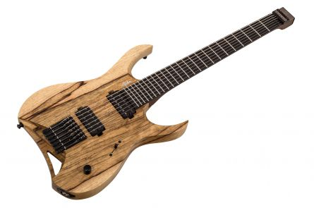 Mayones Hydra 7 BL Black Limba - Trans Natural Satin