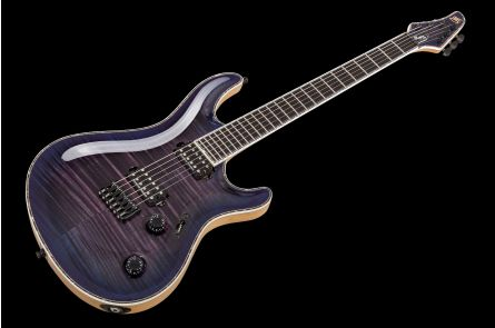 Mayones Regius 6 Core 4A Flamed Maple - Trans Dirty Purple Blue Burst Gloss