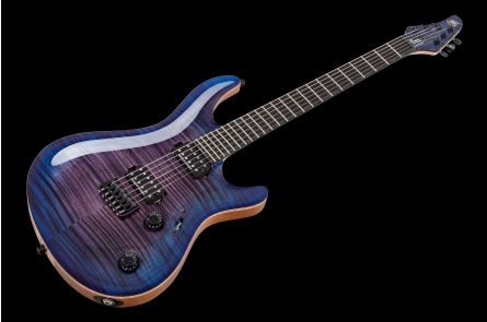 Mayones Regius 6 Core Classic 4A - Trans Purple Blue Burst Gloss