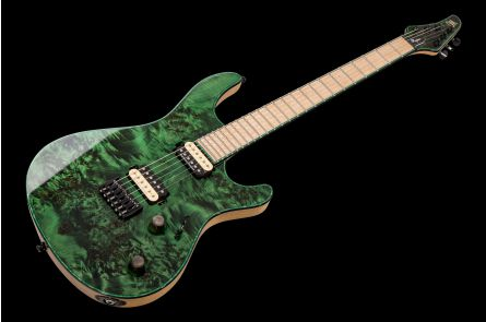 Mayones Regius 6 Custom Shop - Trans Dirty Green Gloss