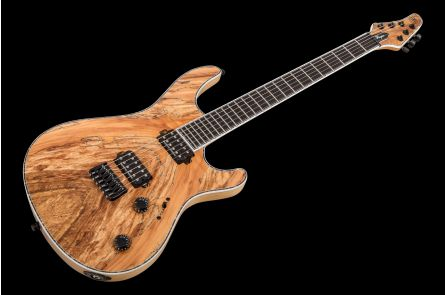 Mayones Regius 6 Spalted Maple 4A - Trans Natural Satin