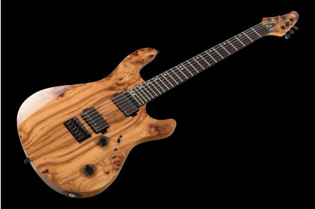 Mayones Regius 6 - Trans Natural Gloss/Matt Back - 4A Eye Elm