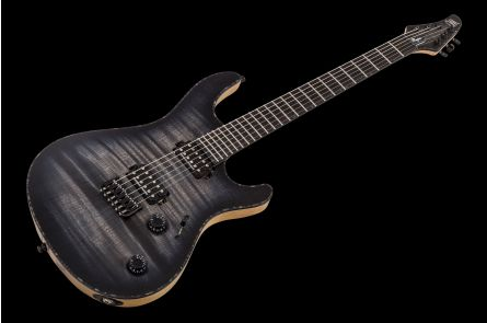 Mayones Regius 6 - Trans Graphite Burst Matt - Black Limba