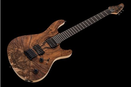 Mayones Regius 6 Custom Shop Burl Walnut - Trans Natural Matt - Ebony