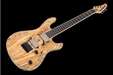 Mayones Regius 7 Spalted Maple 4A - Trans Natural Satin