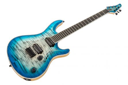 Mayones Regius 6 Core - Trans Jeans Black 3-Tone Blue Burst Matt