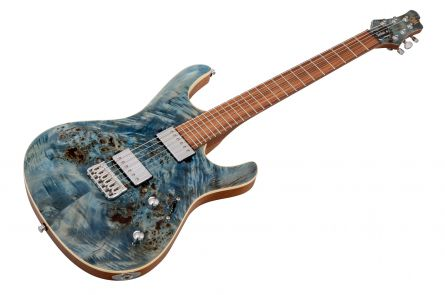 Mayones Setius 6 Custom Shop Eye Poplar - Trans Aquamarine Gloss PF