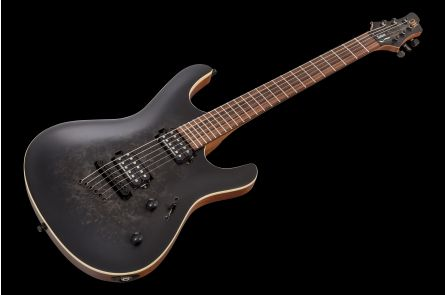 Mayones Setius 6 Eye Poplar - Trans Black Burst Satin PF