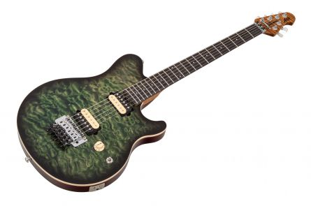 Music Man USA Axis BFR Predator Green Quilt - Limited Edition