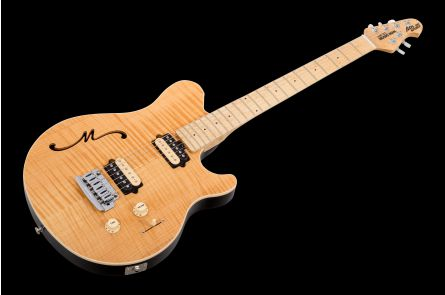 Music Man USA Axis Super Sport Semi-Hollow Body Trem NT - Natural MN FT