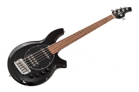 Music Man USA Bongo 5 HS Lined Fretless BK - Black