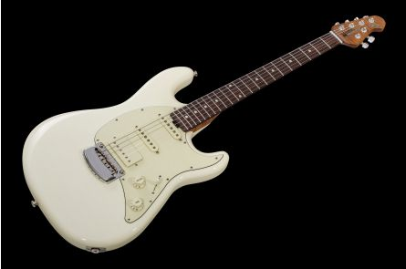Music Man USA Cutlass RS HSS Guitar IW - Ivory White RW