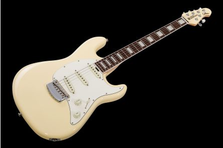 Music Man USA Cutlass SSS Guitar BFR - Cornsilk White - Limited Edition PV